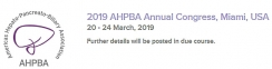2019 AHPBA Annual Congress, Miami, USA